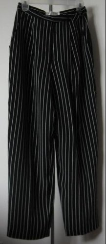 LIKE NEW Anne Klein petites size 6 pinstripe dress pants slacks black LN