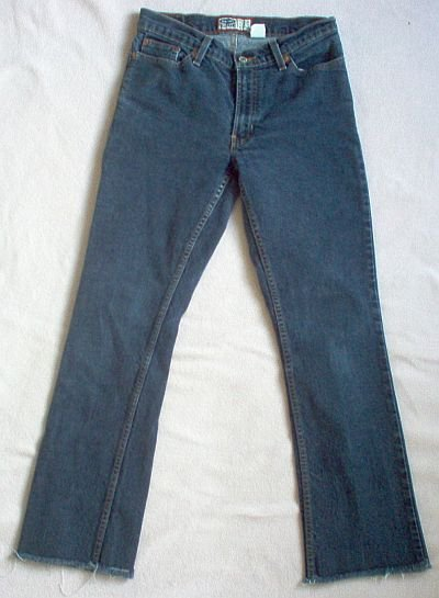 brand new OLD NAVY size 4 jeans distressed cuff bootcut NWOT