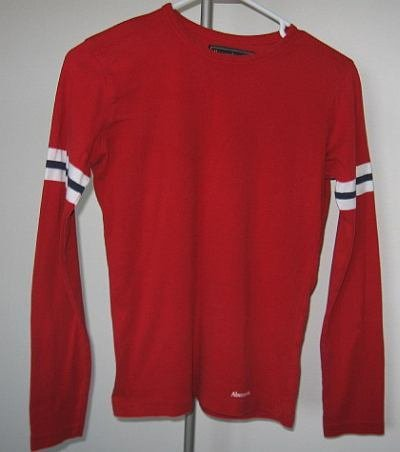 Abercrombie and Fitch size M red l/s tee EUC A&F t-shirt long sleeved excellent condition