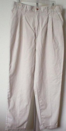 Chic pleated khakis size 14 p petite like new condition nice