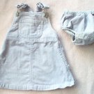 LIKE NEW BABY GAP purple overall jumper dress with bloomer size 3-6 mos outfit