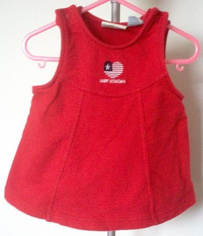 BABY SONOMA red tank snap dress size 6-9 months LIKE NEW condition patriotic