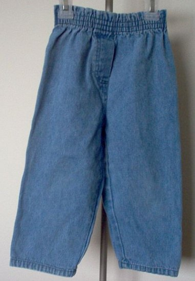 Basic Editions elastic waist denim pants size 3T excellent condition simple style