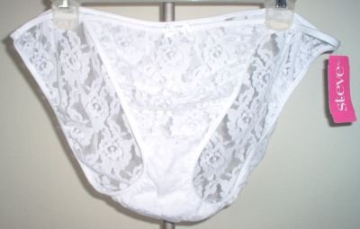 brand new ST. EVE lacy string bikini panties size 9 white NWT