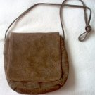 brown EMPRESS handbag purse leather in excellent condition