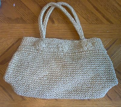 ESPRIT woven faux straw hemp bag in excellent condition
