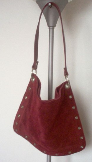 Old Navy red suede handbag purse in excellent condition