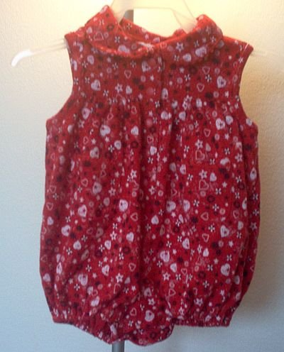All Mine 3-6 months red romper cute one piece like new condition