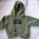 KIKS olive green team USA hoodie 18 mos months in like new condition