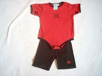 brand new 24 month WILSON onesie shirt and shorts outfit NWOT