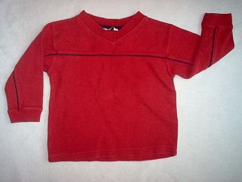 Covington Boy long sleeved  size 4 red nice tee t-shirt T in excellent condition