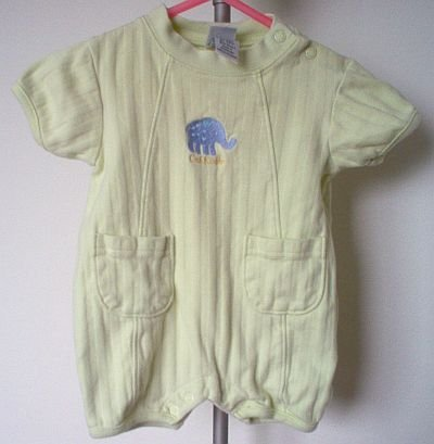OshKosh romper size 0-3 months  pale green elephant in excellent condition