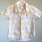 Old Navy toddler size 3T plaid button up short sleeves in excellent condition