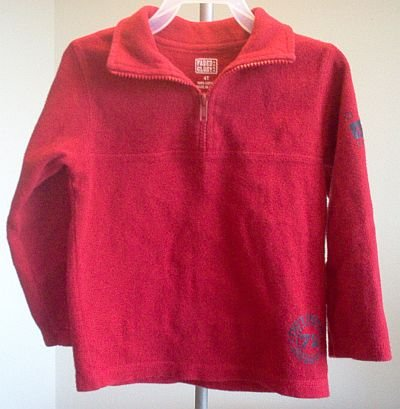 Faded Glory red half zip sweatshirt tagless size 4T in excellent condition