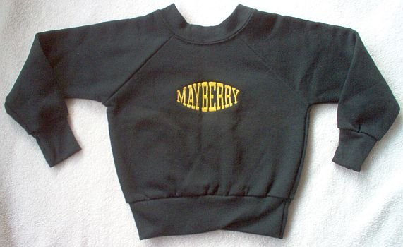brand new Andy Griffith MAYBERRY sweatshirt size 2 12 mo NWOT collectible