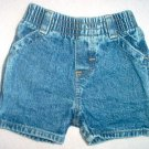 Osh Kosh baby small jean shorts LIKE NEW 6-12 months