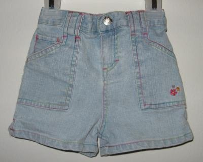 brand new girls Wonder Kids jean shorts size 12 months light wash
