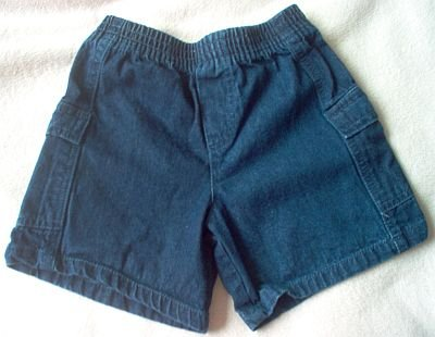 KRU 24 months mos jean shorts elastic dark wash in excellent condition