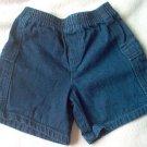 KRU 24 months mos jean shorts elastic dark wash in excellent condition
