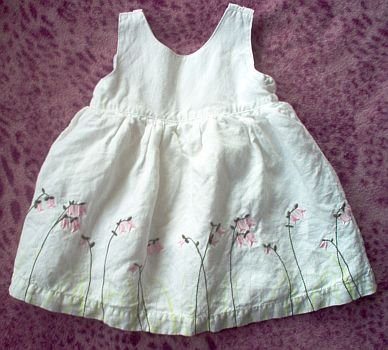 Old Navy linen sundress size 3-6 mos months dress LIKE NEW
