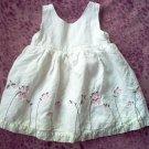 Old Navy linen sundress size 3-6 mos months dress LIKE NEW