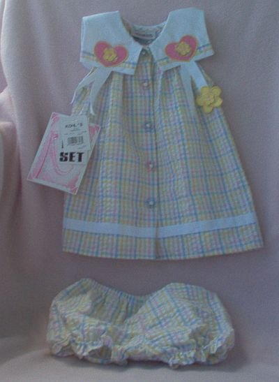 brand new  Youngland NWT 2 pc sundress 18 months outfit set