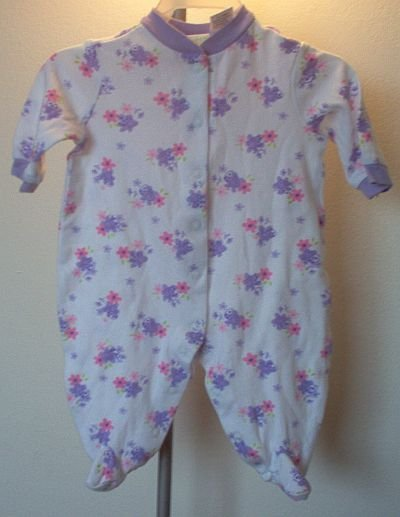 brand new Circo baby sleeper purple bees flower 3 months NWOT