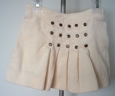 Cotlergirls size 2T cream corduroy skirt in excellent condition