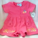 brand new Kiks 12 months culotte romper one-piece pink NWT