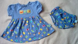 brand new First Moments dress bloomer outfit set 0 3 6 months NWOT
