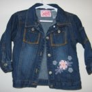 cute 18 month denim jacket regular wash flower stitch in like new condition