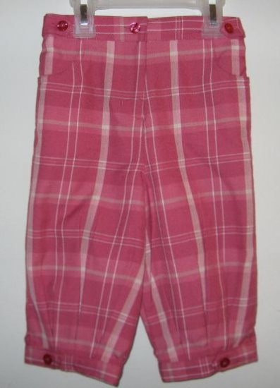 brand new George pink plaid knickers capri size 5T NWT