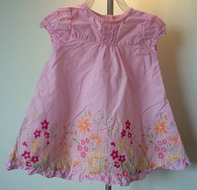 pink George size 18 months dress and bloomer set like new condition