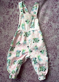 Disney Babies Minnie and Daisy corduroy overalls pink 0-6 months in good condition
