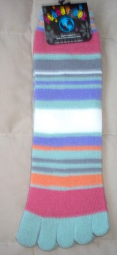 brand new Planet Sox size 9-11 TOE socks striped multi colored NWT