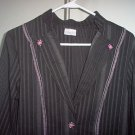 Valia blazer pink and black pinstripe size Large in like new condition