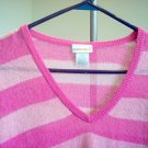 Fashion Bug size large see through pink sweater in excellent condition