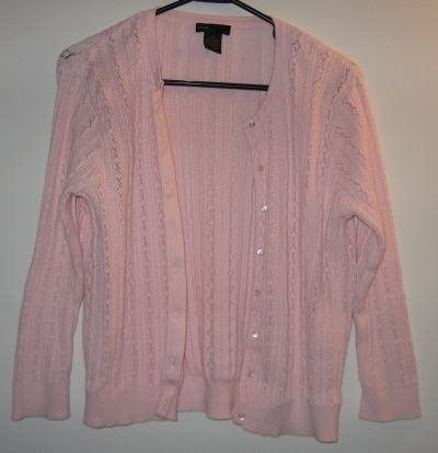 Grace Elements size medium XL pink cardigan sweater LIKE NEW