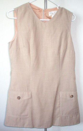 CASUAL CORNER sleeveless suit skirt size 10 tan career set