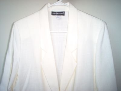 brand new SAG HARBOR cream size 8 jacket blazer suit NWOT