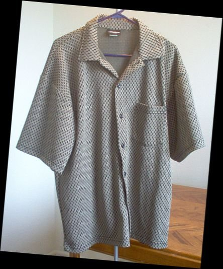 Hoox vintage look shirt size extra large brown and black XL