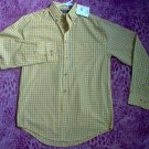 brand new Puritan Yellow long sleeved button up shirt size small NWT