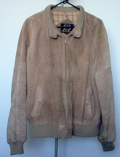 vintage Aberdeen cowhide split leather jacket size 44 gently used condition