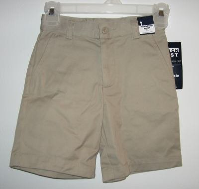 brand new French Toast adjustable waist size 6 uniform khaki shorts NWT