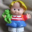 2001 Fisher Price Little People EDDIE school frog bag