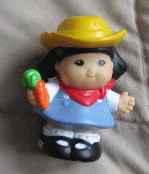 2002 Fisher Price Little People SONYA LEE farm farmer
