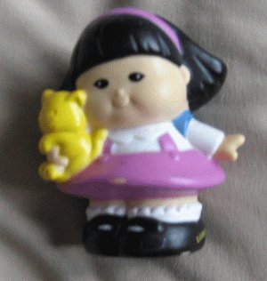 Fisher Price Little People SONYA LEE school bear 2001