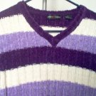 Jamie Scott purple striped sweater size M acrylic excellent condition