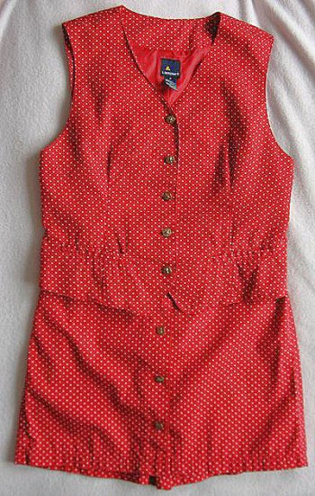 Red Star Lizsport Liz Claiborne culotte vest set size 8