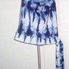 Rave blue funky halter top faux tie waist XS club hot excellent condition
